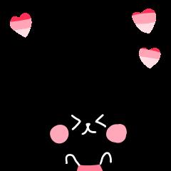 ピンク×黒rabbit