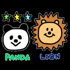 パンダとライオン。