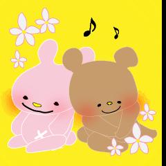 クマとウサギの日常会話