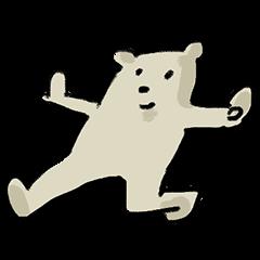 使いやすい熊スタンプ