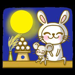 [LINEスタンプ] ねこの三郎と時々チュー吉(秋Ver.) (1)