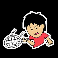 ソフトテニススタンプ