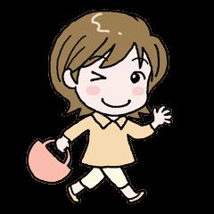 [LINEスタンプ] カジュアルなお母さん (1)