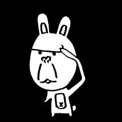 ゴリラ顔のウサギ