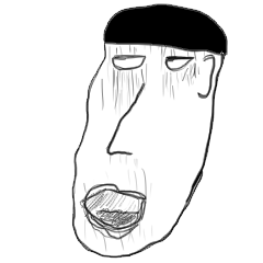 顔で表現するスタンプ 男性編