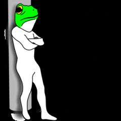 カエルさん・・・。