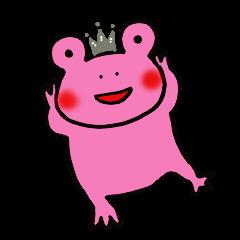 カエル氏とピンク好きなカエル姫