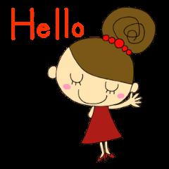 おだんごヘアの女の子【日常編】