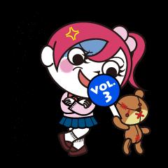[LINEスタンプ] 文字入り ゾンピちゃん Vol.3 怒りのゾンピ