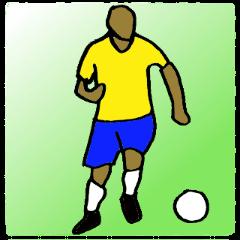 サッカー選手スタンプ3