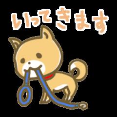 おすわり犬まめたver2【使える日常の一言】