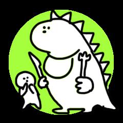 無表情ランチ恐竜