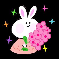 ウサギのララちゃん敬語スタンプ