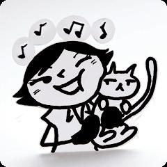 OLなっぽと猫と近所の犬