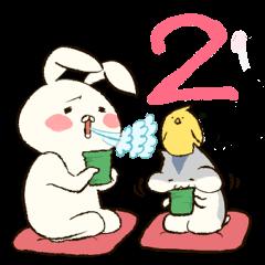 第2弾!ウサ吉とハム郎とピヨ助。
