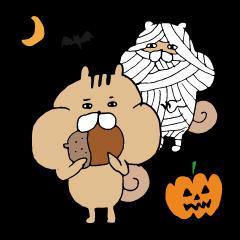 食欲の秋なリスタンプ