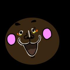 [LINEスタンプ] 顔黒丸゜ (1)