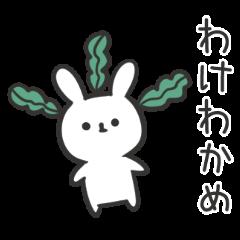 うさぎのふざけたスタンプ【日常編】