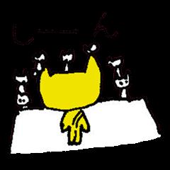 [LINEスタンプ] 微妙な反応猫の菜々ちゃん