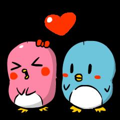 かわいいペンギンのカップル ver 2