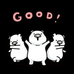 3匹の白いコブタ
