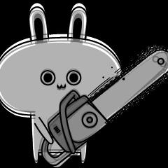 目が死んでるウサギ