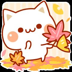 秋も気づかいのできるネコ♪