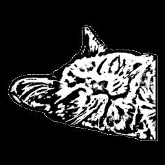 まっさんの 版画風 猫スタンプ