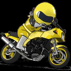 幸せの黄色いバイク