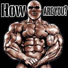 筋肉マッチョマッスルスタンプ 3