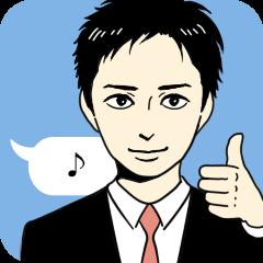 [LINEスタンプ] スーツ男子2人組 (1)