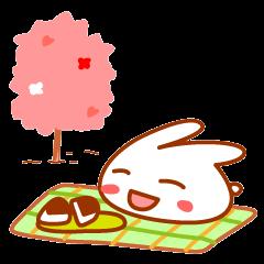 『満月ポン』ポンちゃん春4コマ