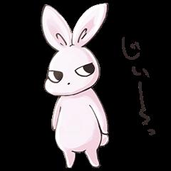ジト目なウサギ。
