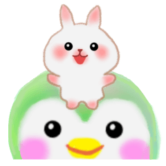 [LINEスタンプ] のってる☆うさっぴ&pempem (1)