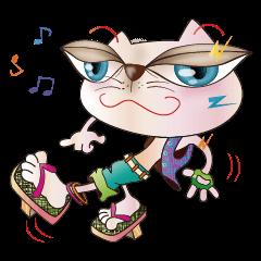 Cicada Cat /  kawaii clogs hip-hop show.