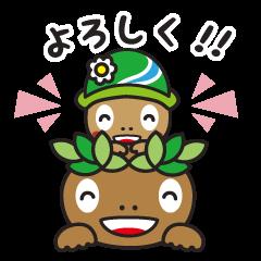 [LINEスタンプ] あきる野市公式!森っこサンちゃんの画像(メイン)