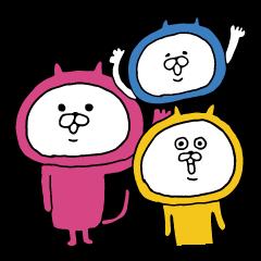 3色ねこ猫