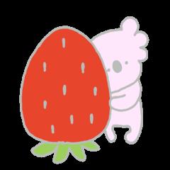 のんびりコアラ3(いちご)