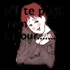 アラフォー的スタンプ。 フランス語版