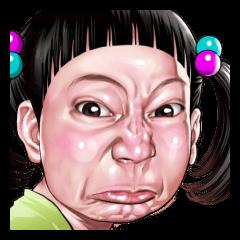 怒り顔スタンプ2(子供編)