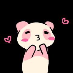 ピンクのパンダ!友達専用スタンプ
