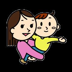 [LINEスタンプ] 3人家族のほのぼの日常 (1)