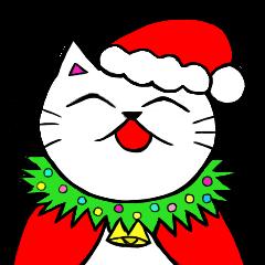 猫のハロウィン&クリスマススタンプ