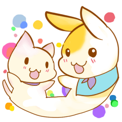 Healing cat & rabbit