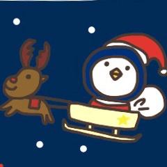 クリスマス時期のぺんぎんスタンプ
