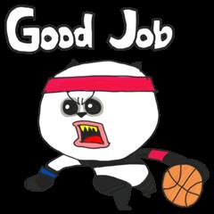 パンダのバスケットボール2