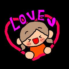 オレンジちゃんとブラウンくん【女の子用】