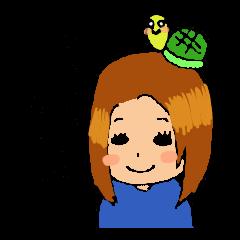 杏ちゃん&運子スタンプ