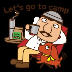 キャンプへ行こう!愛犬とハンサムマンNo.3
