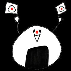 a ONIGIRI sticker